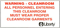 Cleanroom Entrance Sign p82