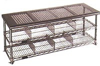 Perforated Shoe Rack/Storage Bench p91